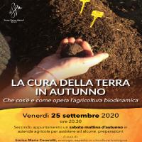 La cura della terra in autunno