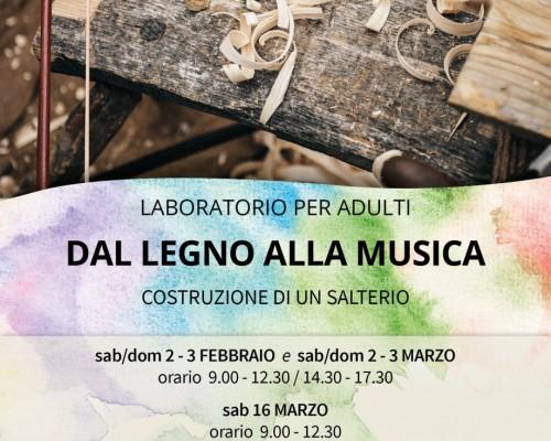 LABORATORIO PER ADULTI DAL LEGNO ALLA MUSICA