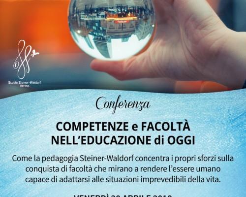 EVENTO ANNULLATO - DALL'ACQUISIZIONE DI COMPETENZE ALLO SVILUPPO DI FACOLTÀ NELL'EDUCAZIONE
