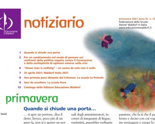 Primavera - Notiziario nr. 33 della Federazione delle Scuole Steiner-Waldorf in Italia