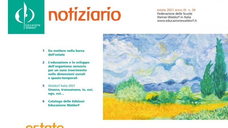 Estate 2021 - Notiziario nr. 34 della Federazione delle Scuole Steiner-Waldorf in Italia