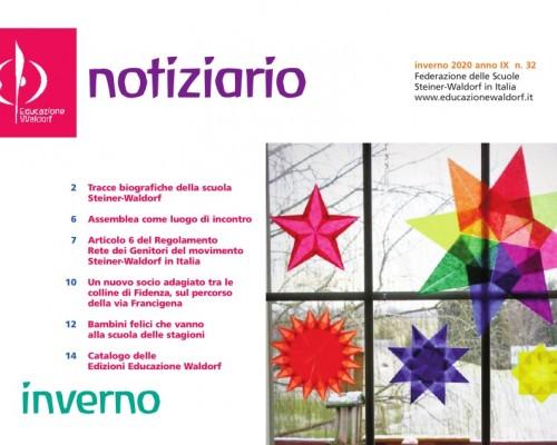 Inverno - Notiziario nr. 32 della Federazione delle Scuole Steiner-Waldorf in Italia