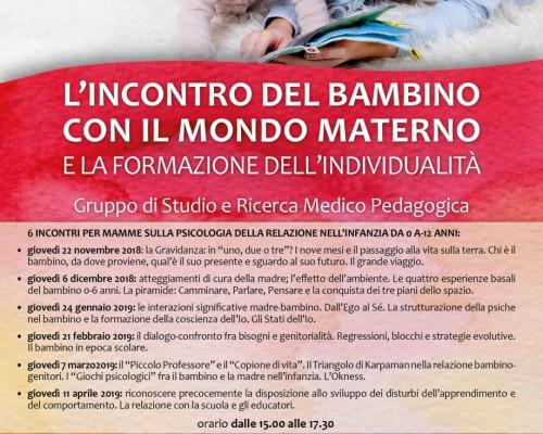 L´incontro del bambino con il mondo materno e la formazione dell´individualità